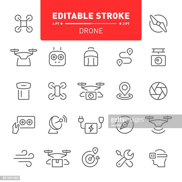 drone icons - concepts & topics stock illustrations, clip art, cartoons, & icons