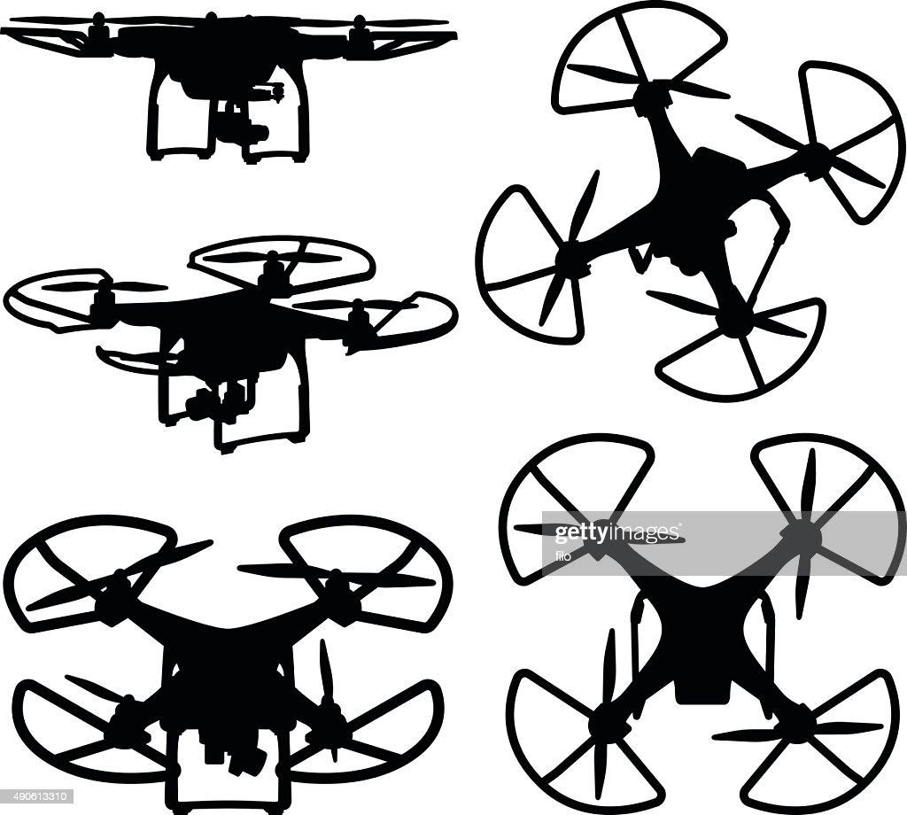 Drone Silhouettes : stock illustration