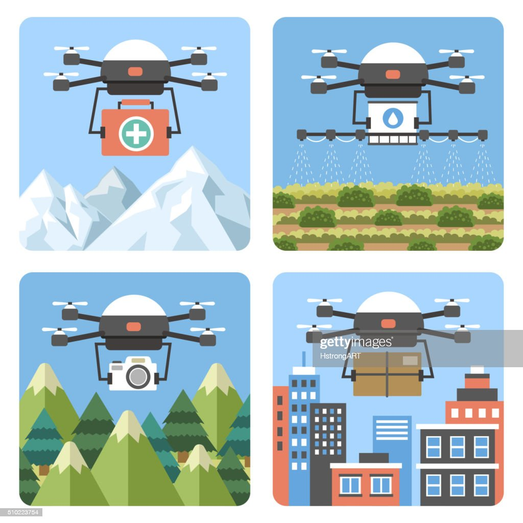 drones applications in different fields
