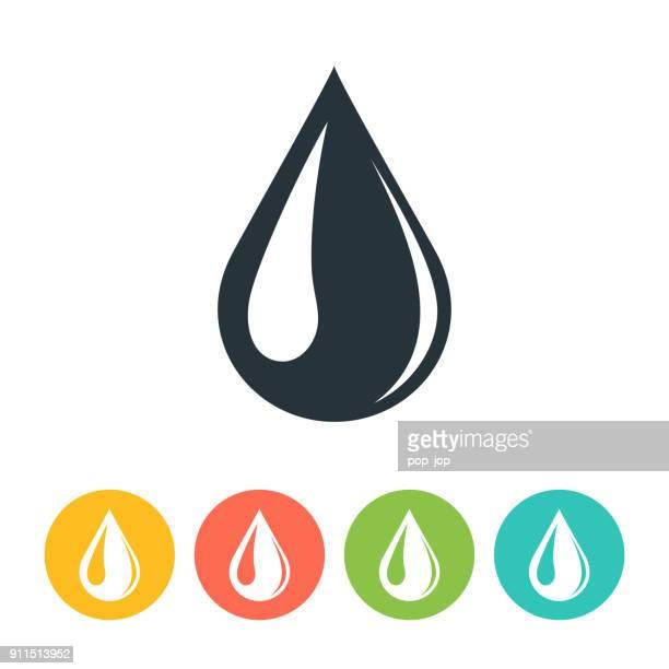 drop icon - crude oil stock illustrations