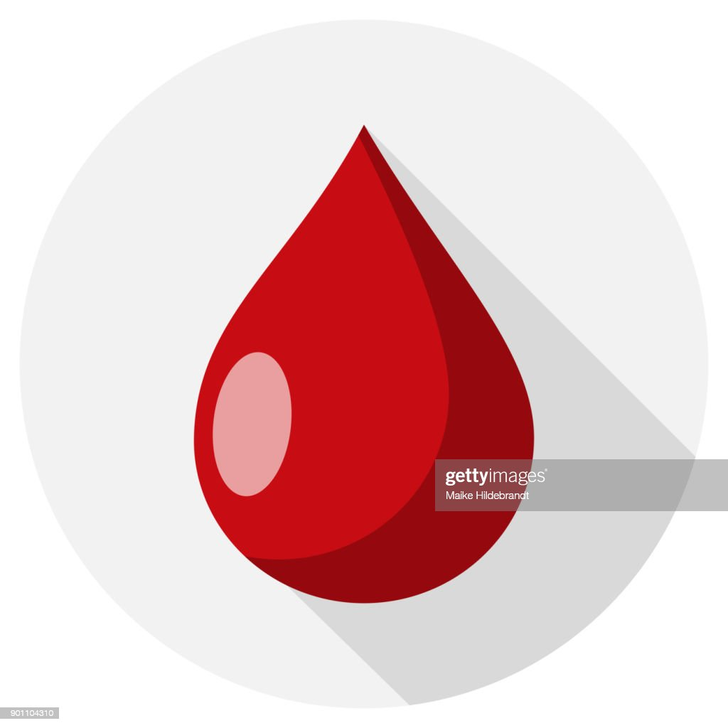 drop of blood Flat Design