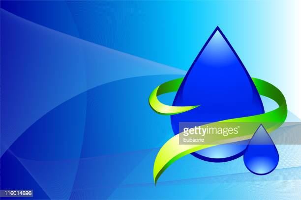 drop of water on abstract background - royal blue stock illustrations