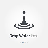 Drop Water Vector icon