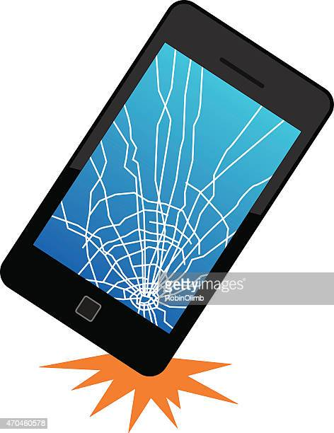 dropped smart phone - broken stock illustrations, clip art, cartoons, & icons