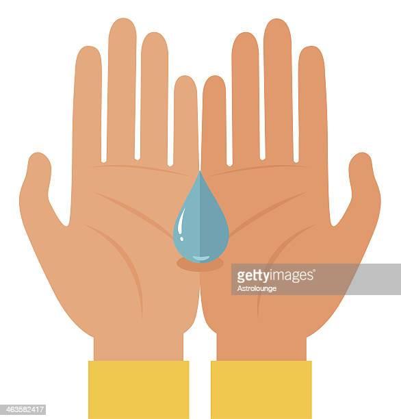 ilustraciones, imágenes clip art, dibujos animados e iconos de stock de sequía - lavado de manos