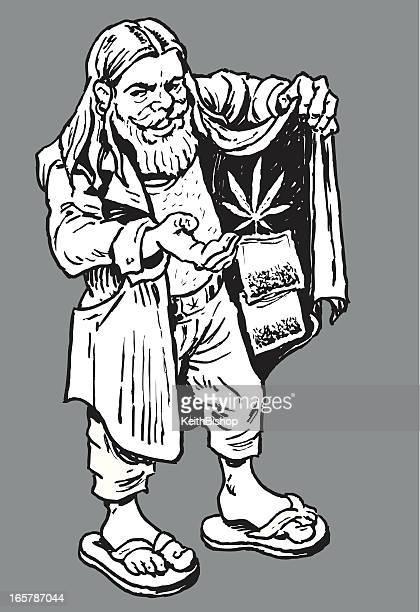 dealer oder haschisch taste - cannabis medicinal stock-grafiken, -clipart, -cartoons und -symbole