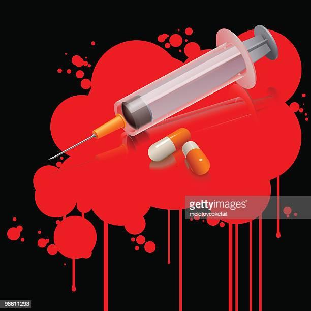 drug kills (vector) - heroin stock illustrations, clip art, cartoons, & icons