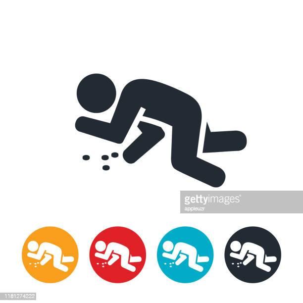 drug overdose icon - unconscious stock illustrations
