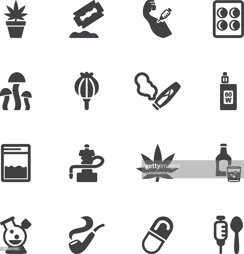 Drug Silhouette icons | EPS10 : stock illustration