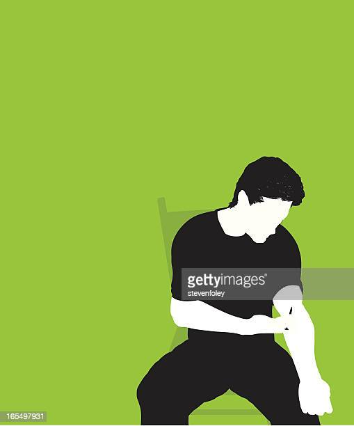 drug user - needle - injecting stock illustrations