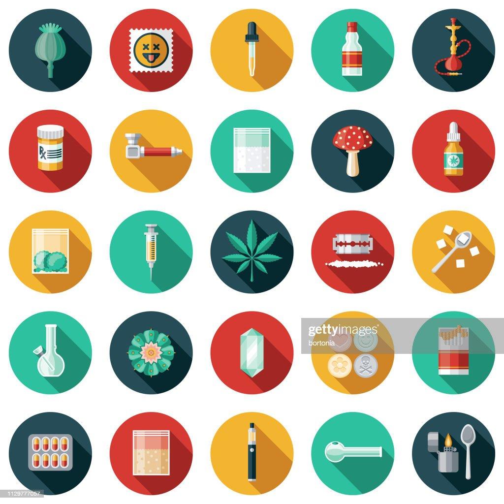Drugs Icon Set : stock illustration