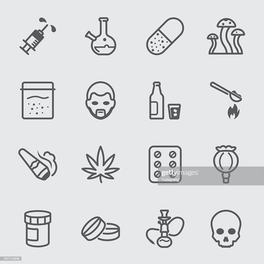 Drugs line icon