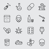 Drugs line icon