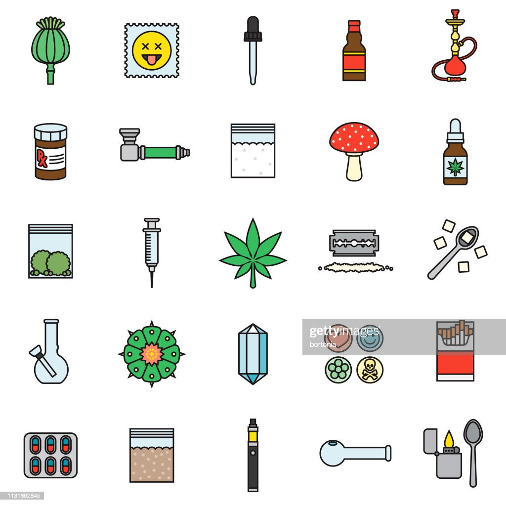 drugs thin line icon set high res vector graphic getty images 2