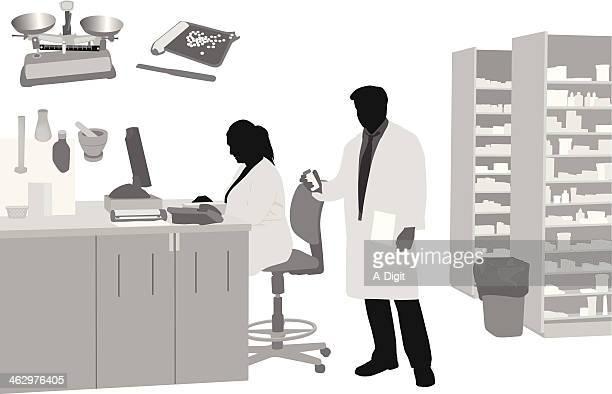 Illustrations et dessins anim s de pharmacien getty images - Medecine du travail salon de provence ...
