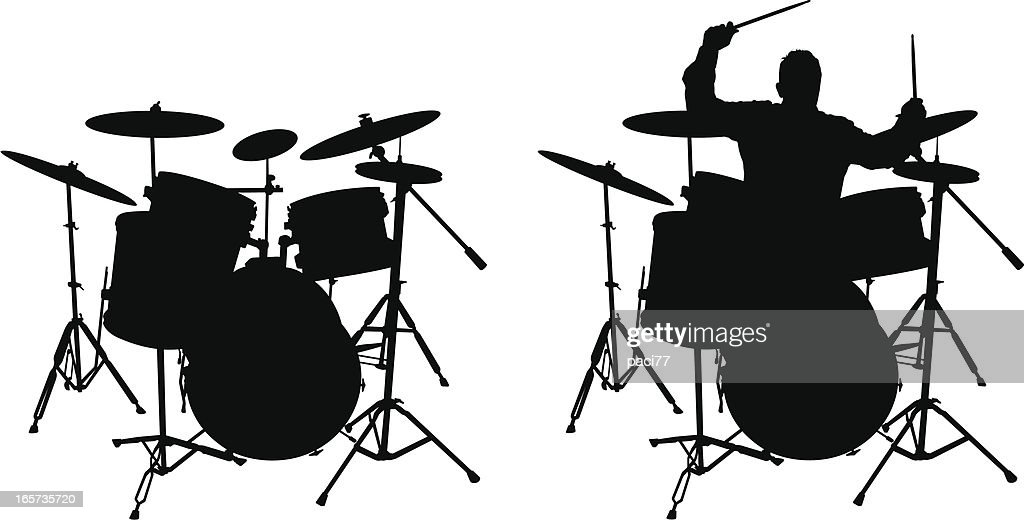 Drum and Drummer (vector illustration)