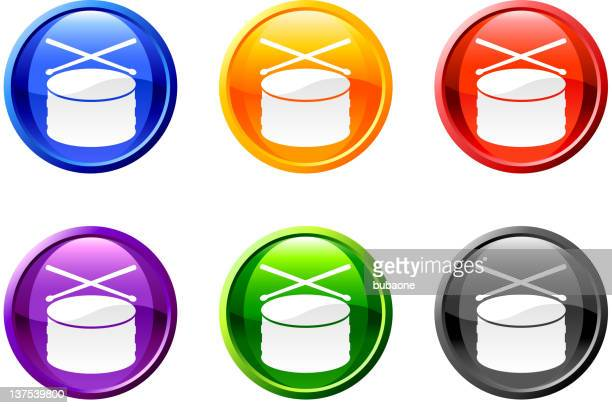 drum button royalty free vector art - snare drum stock illustrations, clip art, cartoons, & icons