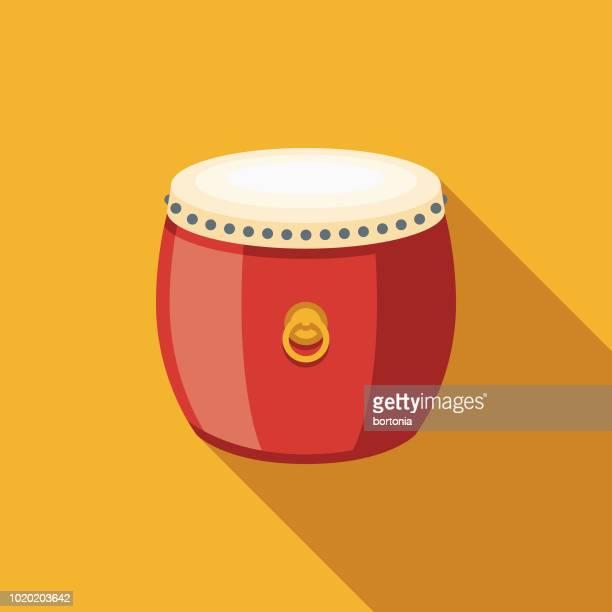 Drum Flat Design China Icon