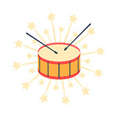 drum. icon, vector illustration.