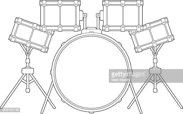drum kit outline - snare drum stock illustrations, clip art, cartoons, & icons