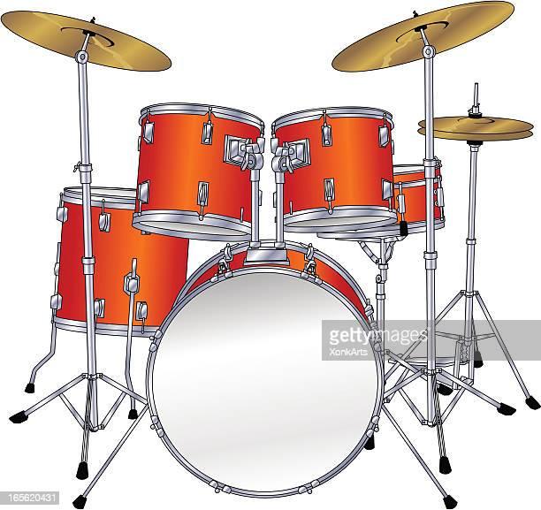drum kit - drum kit stock illustrations