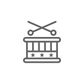 Drum, USA icon. Element of 4th of july icon. Thin line icon for website design and development, app development. Premium icon