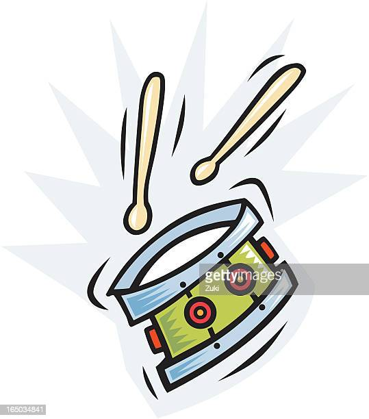 drum - snare drum stock illustrations, clip art, cartoons, & icons