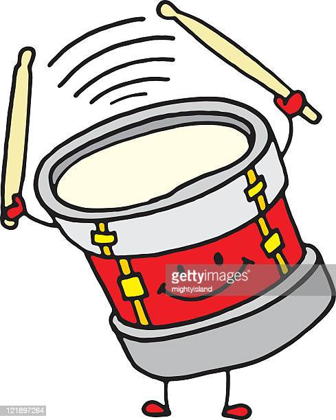 drumming character - snare drum stock illustrations, clip art, cartoons, & icons