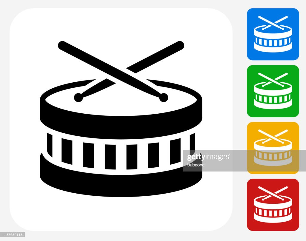 Drums Icon Flat Graphic Design