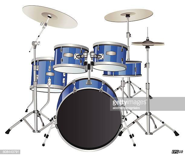 drums or drum set - snare drum stock illustrations, clip art, cartoons, & icons