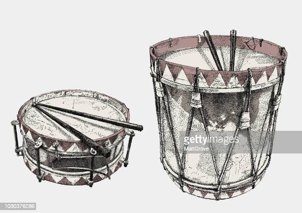 illustrations, cliparts, dessins animés et icônes de drums - tambour et batterie