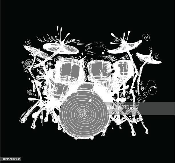 drums - drum container stock illustrations