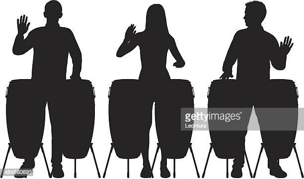 drums - percussion instrument stock illustrations