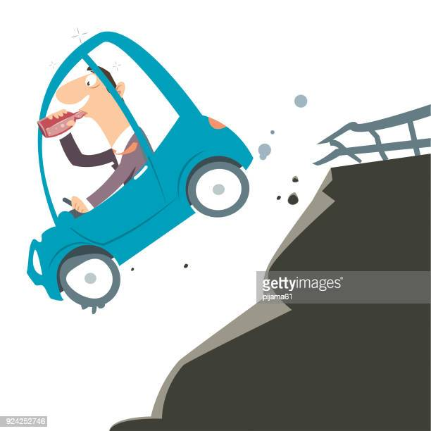 drunk driver - runaway vehicle stock illustrations, clip art, cartoons, & icons