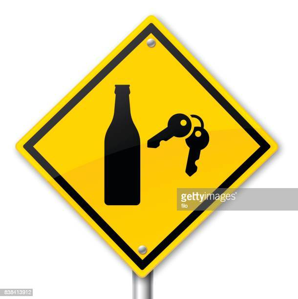 Drunk Driving Warning Sign
