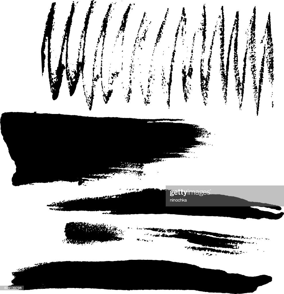 dry brush strokes vector art getty images