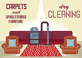 Dry Cleaning Carpets and Upholstered Furniture.
