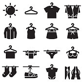 Dry Clothes Icons [Black Edition]