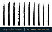 Dry Marker Vector Brush Set
