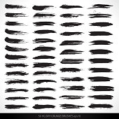 50 HQ dry vector grunge brushes