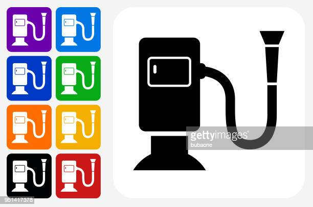 dryer icon square button set - vacuum cleaner stock illustrations, clip art, cartoons, & icons