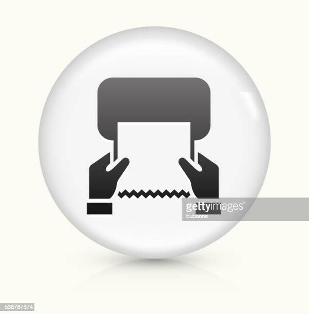 drying hands icon on white round vector button - paper towel stock illustrations, clip art, cartoons, & icons