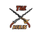 dual keris weapon cartoon design