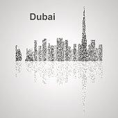 Dubai  skyline  for your design