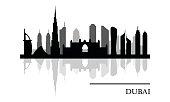 Dubai skyline panoramic view