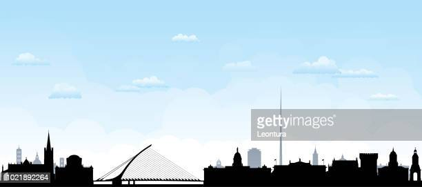 dublin (all buildings are complete and moveable) - panoramic stock illustrations, clip art, cartoons, & icons
