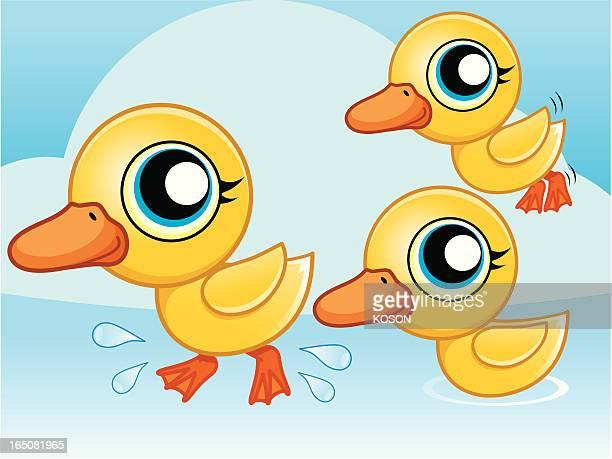 duck cartoon - northeastern england stock illustrations, clip art, cartoons, & icons