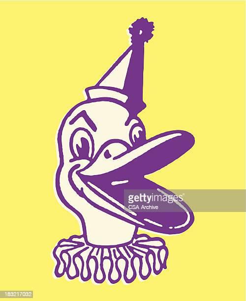 duck clown - neck ruff stock illustrations