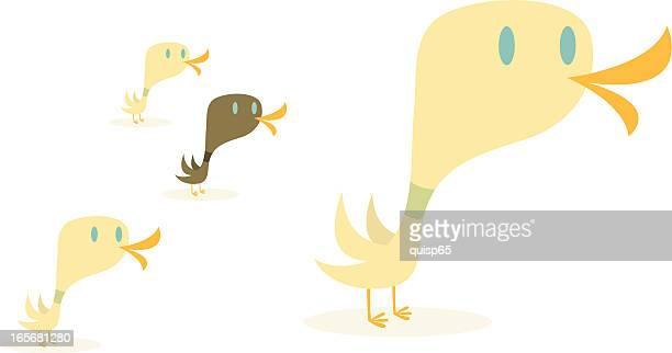 duck family - duck stock illustrations, clip art, cartoons, & icons