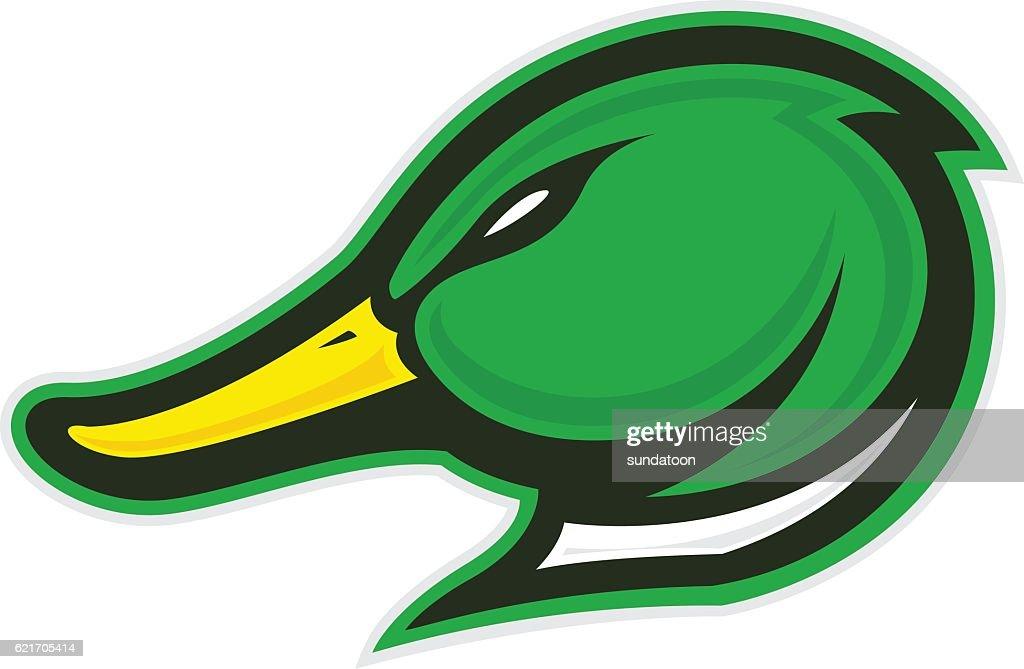 Duck head mascot